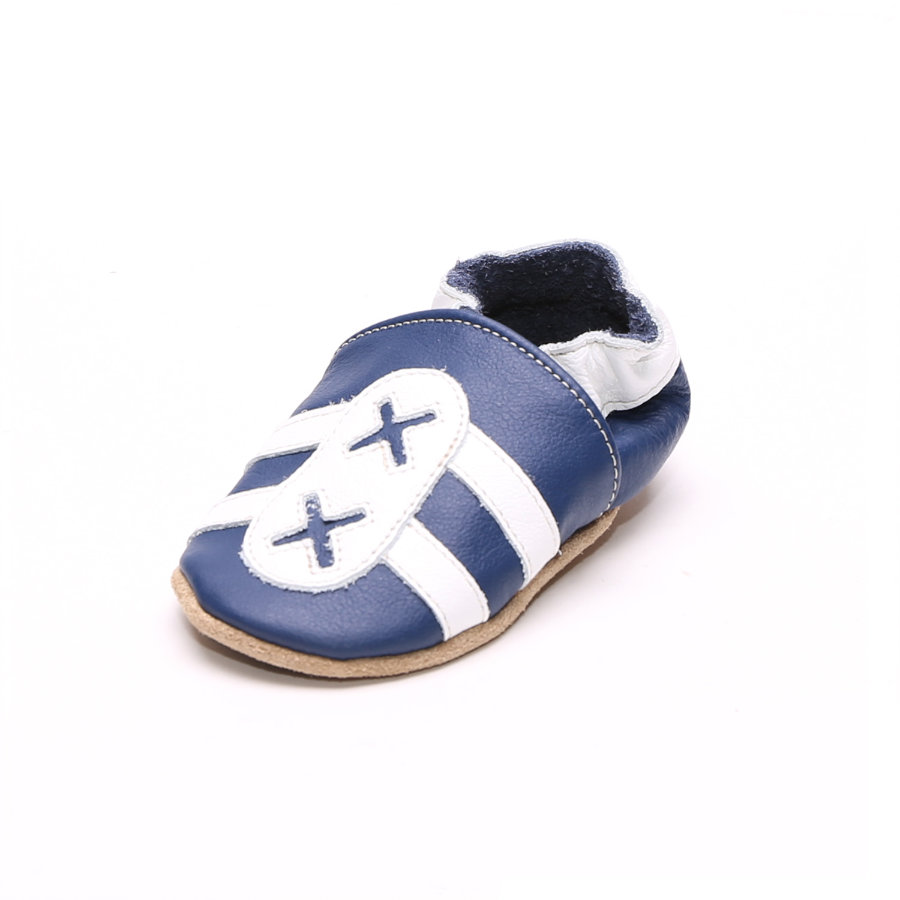 HOBEA Chaussons bébé bleu/blanc