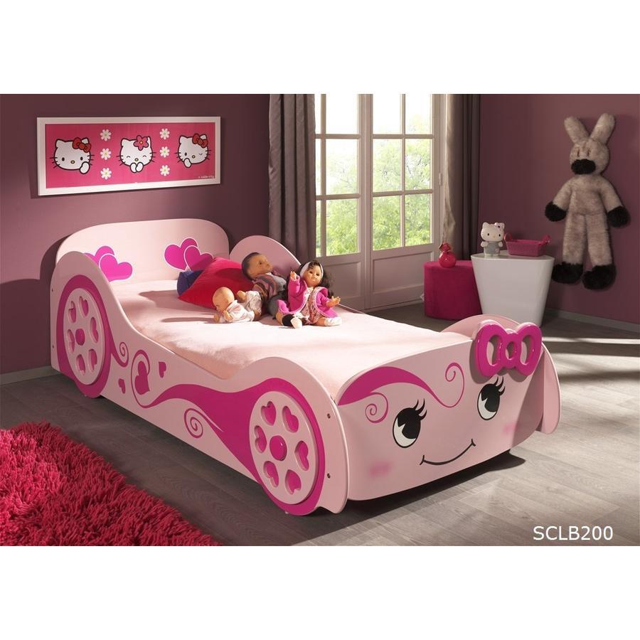 VIPACK Łóżko-samochód Pretty Girl rosa