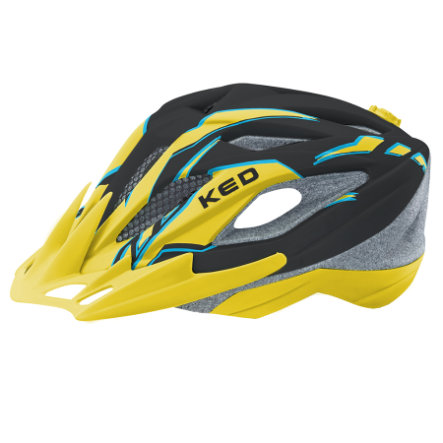 KED Kinder Fahrradhelm Street Junior Pro Black Yellow Matt Gr. M 53-58 cm