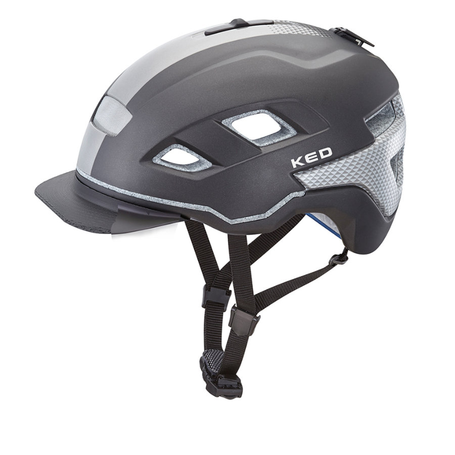 KED Casque vélo enfant Berlin Black Anthracite
