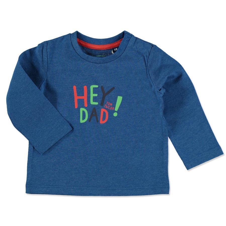 TOM TAILOR camisa de manga Boys larga azul moteado