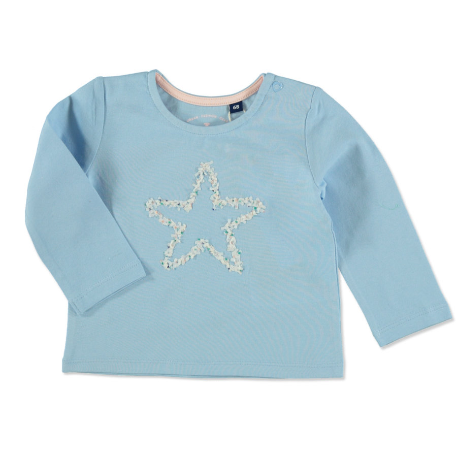 TOM TAILOR Girls Langarmshirt  Washed Out Middle Blue