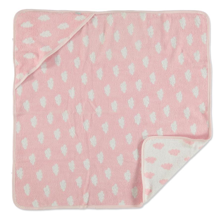 LITTLE Badhandduk rosa 80x80 cm