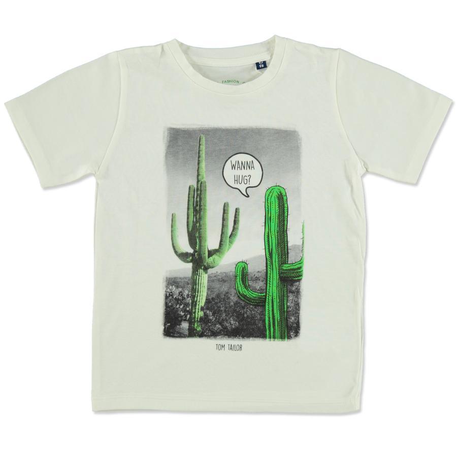 TOM TAILOR Boys T-Shirt bianco sporco