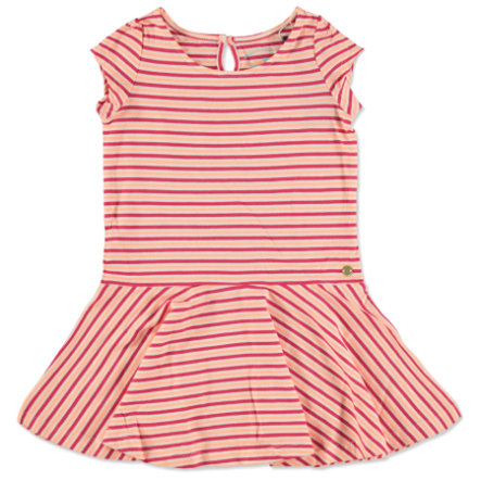 TOM TAILOR Girls Kleid Ringel rot