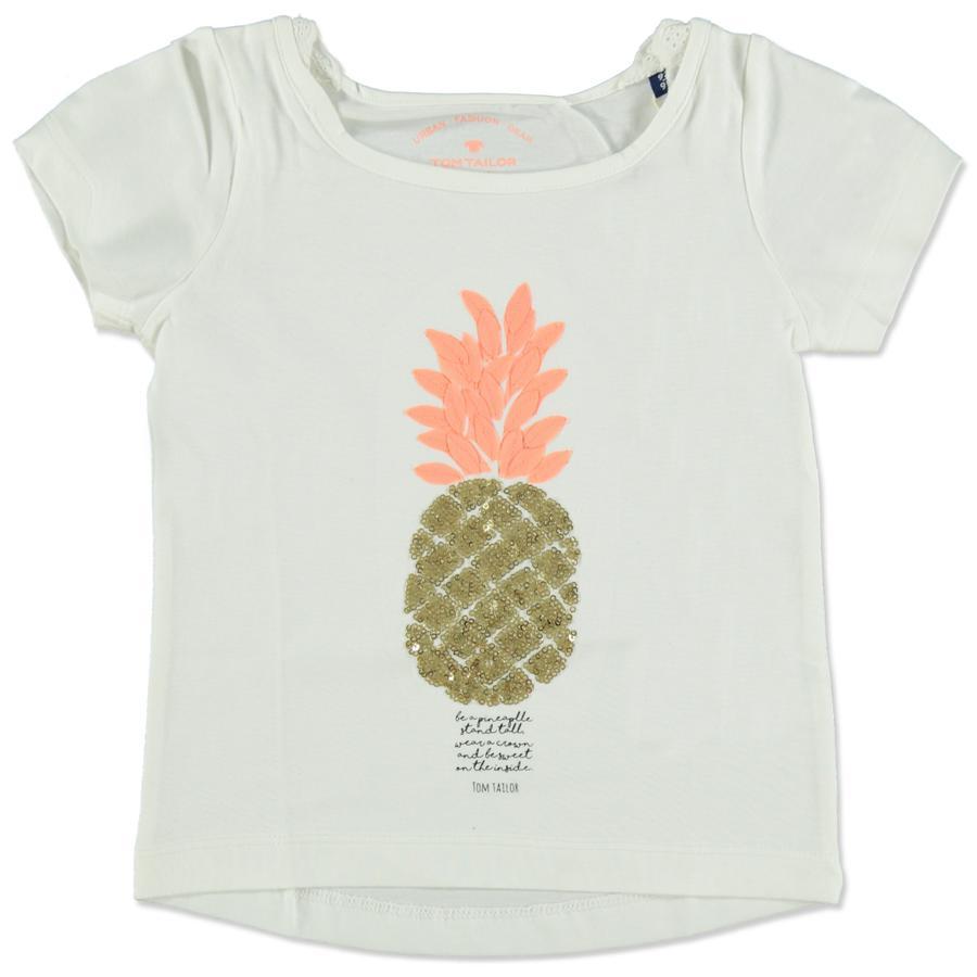 TOM TAILOR Girls T-Shirt Pin apple white