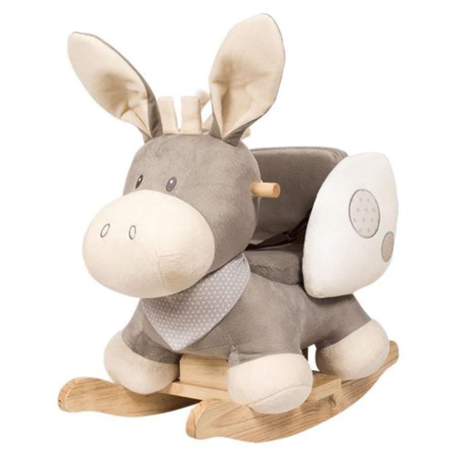 Nattou Cappuccino Schaukeltier Esel, Sitz beige
