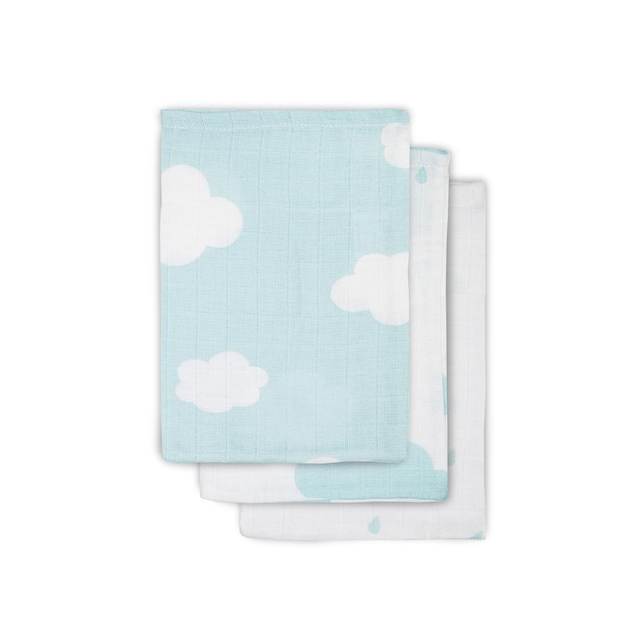 jollein Tvättlappar Clouds 3-pack 15x20cm