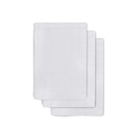 jollein Mull vaskeklud hvid 3er-Pack 15x20cm