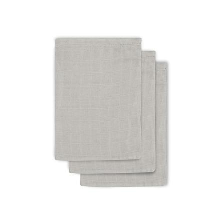 jollein Paquete de 3 toallitas de gasa gris 15x20cm