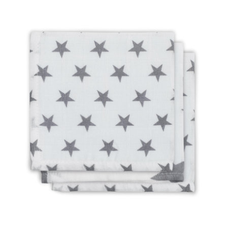 jollein Serviette de table Little star gris, 3 pièces
