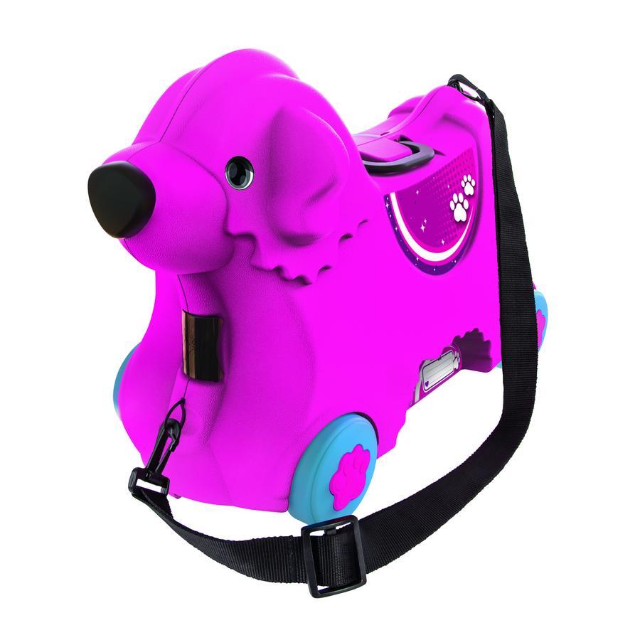 BIG Valise porteur chien Bobby, rose