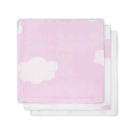 jollein Mull Mundtuch Clouds rosa 3er-Pack 31x31cm