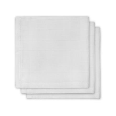 jollein Mull sutteklud hvid 3er-Pack 31x31cm