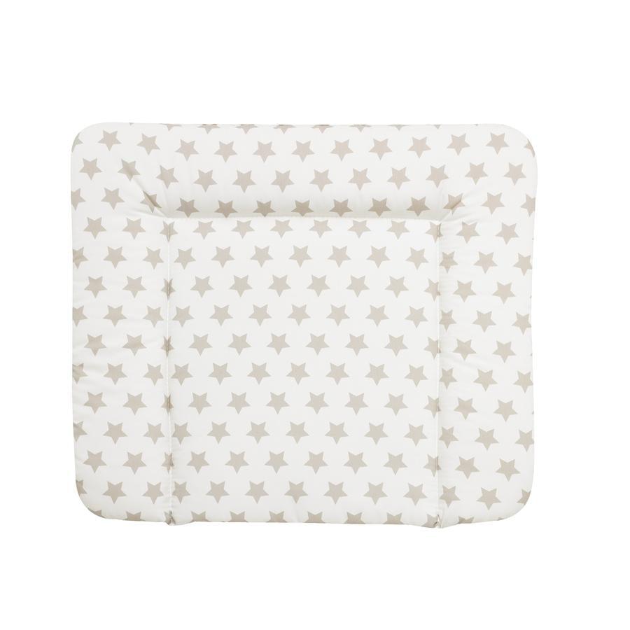 Alvi Materassino per fasciatoio Wiko Molly Stelle bianco/beige 75 x 85 cm