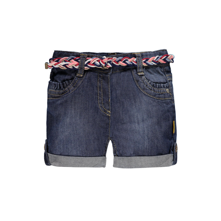 Steiff Girls Jeans-Shorts light blue denim