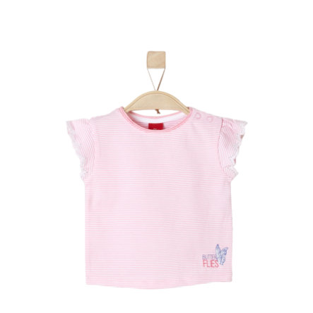 s.Oliver Girls T-Shirt light pink stripes