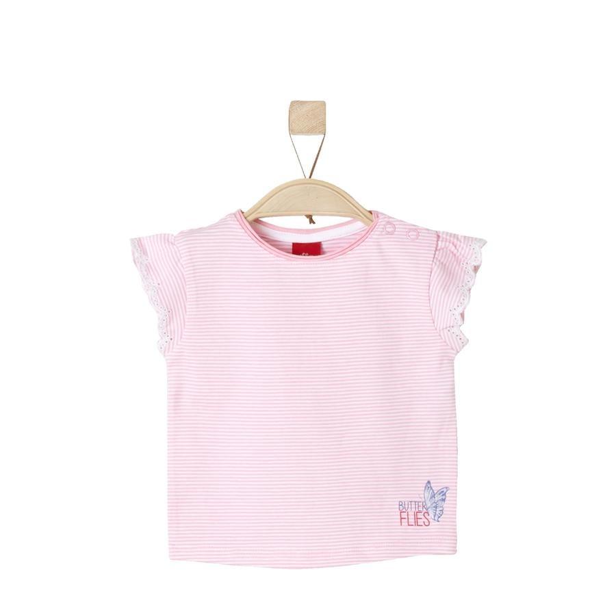 s.Oliver Girl s T-Shirt lichtroze strepen