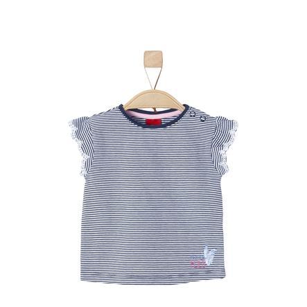 s.Oliver Girl s bleu T-Shirt foncé rayures