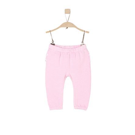 s.Oliver Girl Spodnie z jasnoróżowymi paskami.