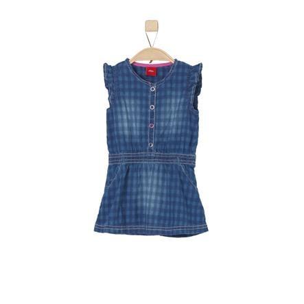 s.Oliver Girl s vestido azul denim no stretch