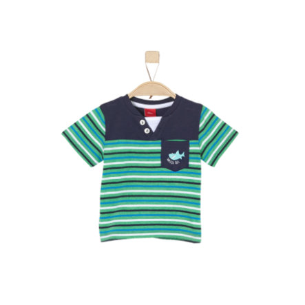 s.Oliver Boys T-Shirt zielone pasy