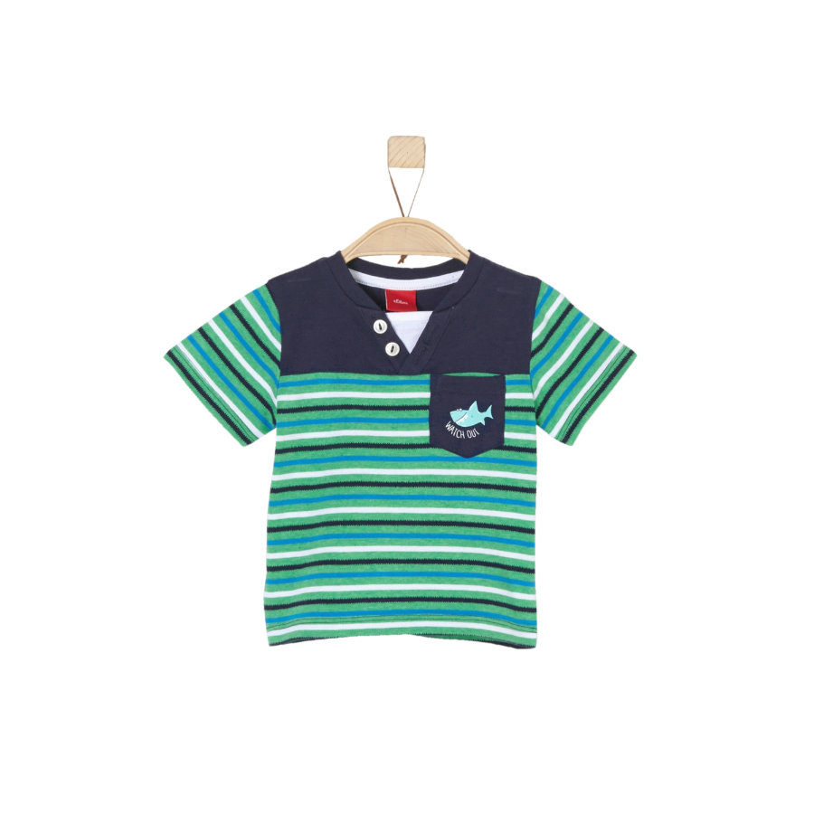 s.Oliver T-Shirt green stripes