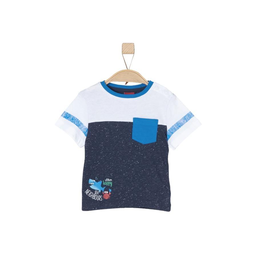 s.Oliver Boys T-Shirt mélange bleu foncé