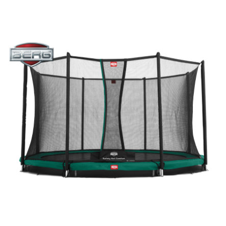 BERG Toys - Trampolin InGround Favorit 380 + Sicherheitsnetz Comfort 380