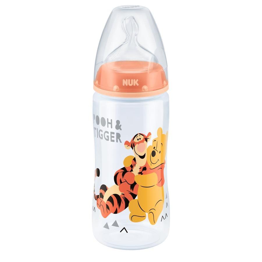 NUK Babyfles First Choice Plus silicoon design:  Tijgertje en Winnie de Poeh Gr. 2 vanaf 6 maanden 300 ml