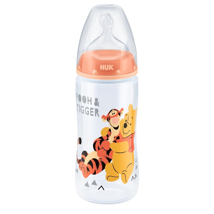 NUK Drickaflaska First Choice Plus Silikon Tiger och Nalle Puh Storlek M från 6 månader 300 ml