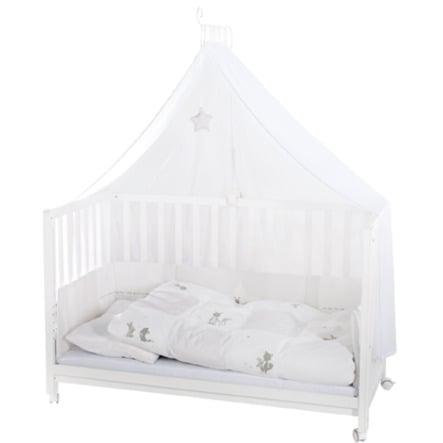 roba Culla con set biancheria Room Bed Fox & Bunny bianca
