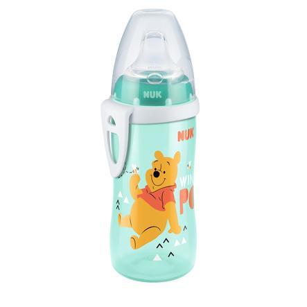 NUK Trinkflasche Active Cup Winnie the Pooh 300 ml mit Trinktülle, minze