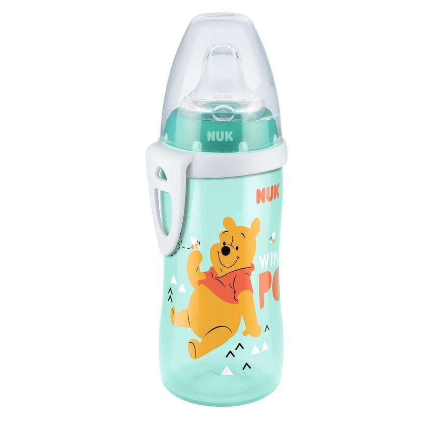 NUK Disney Trinklernflasche Kinder auslaufsicher Active Cup Winnie Blau 300ml