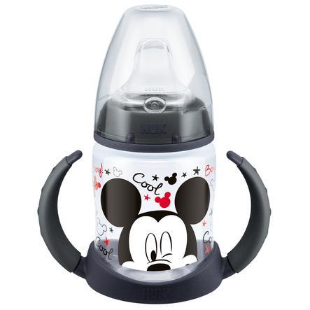 NUK Butelka First Choice Disney Mickey z tworzywa PP 150 ml, kolor czarny, z silikonowym ustnikiem, od 6. miesiąca, nie zawiera BPA