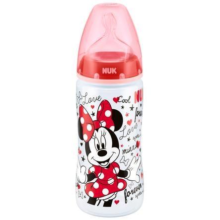 NUK FIRST CHOICE Plus Butelka z tworzywa PP 300 ml z silikonowym smoczkiem antykolkowym w rozmiarze 2 M (6-18 miesięcy) do modyfikowanego mleka, 0% BPA, kolor czerwony