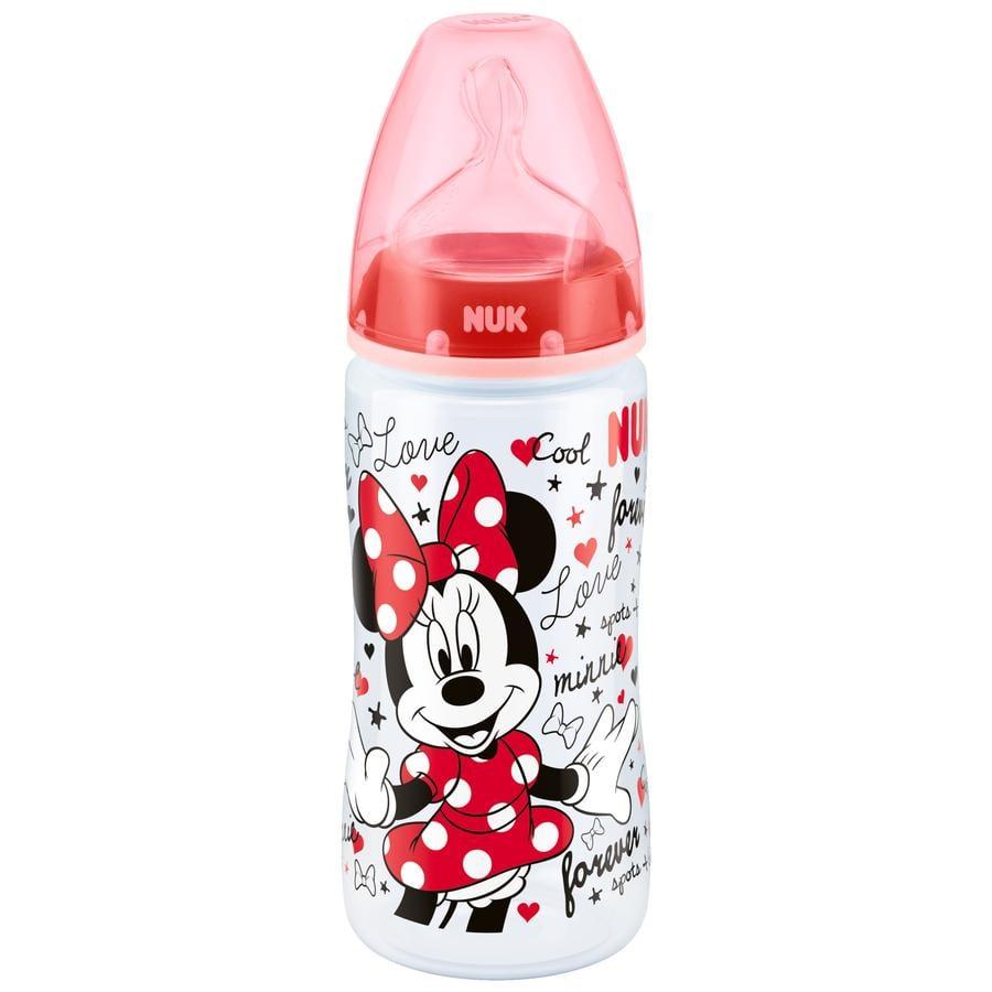 NUK FIRST CHOICE Plus Disney Mickey Nappflaska 300 ml röd med silikon-dinapp Str 2 M