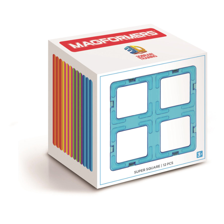MAGFORMERS® Super Square 12 Set