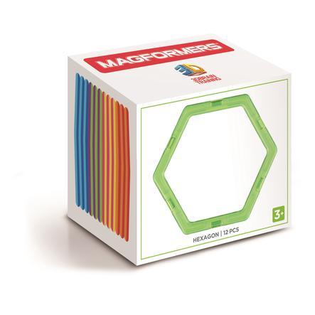 MAGFORMERS® Jeu magnétique Hexagon Set 12 pièces