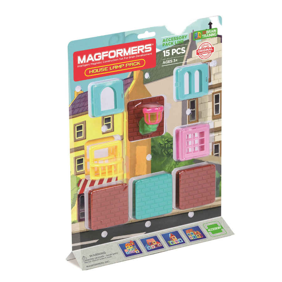 MAGFORMERS® House Lamp Pack 15
