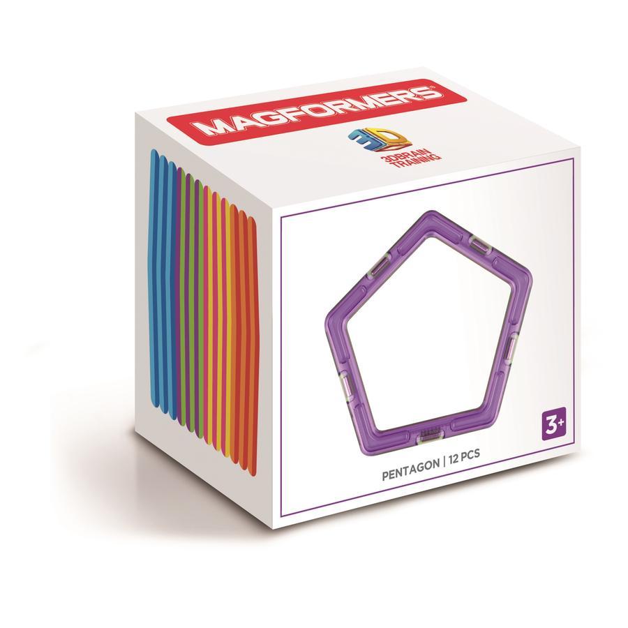 MAGFORMERS® Jeu magnétique Pentagon Set 12 pièces