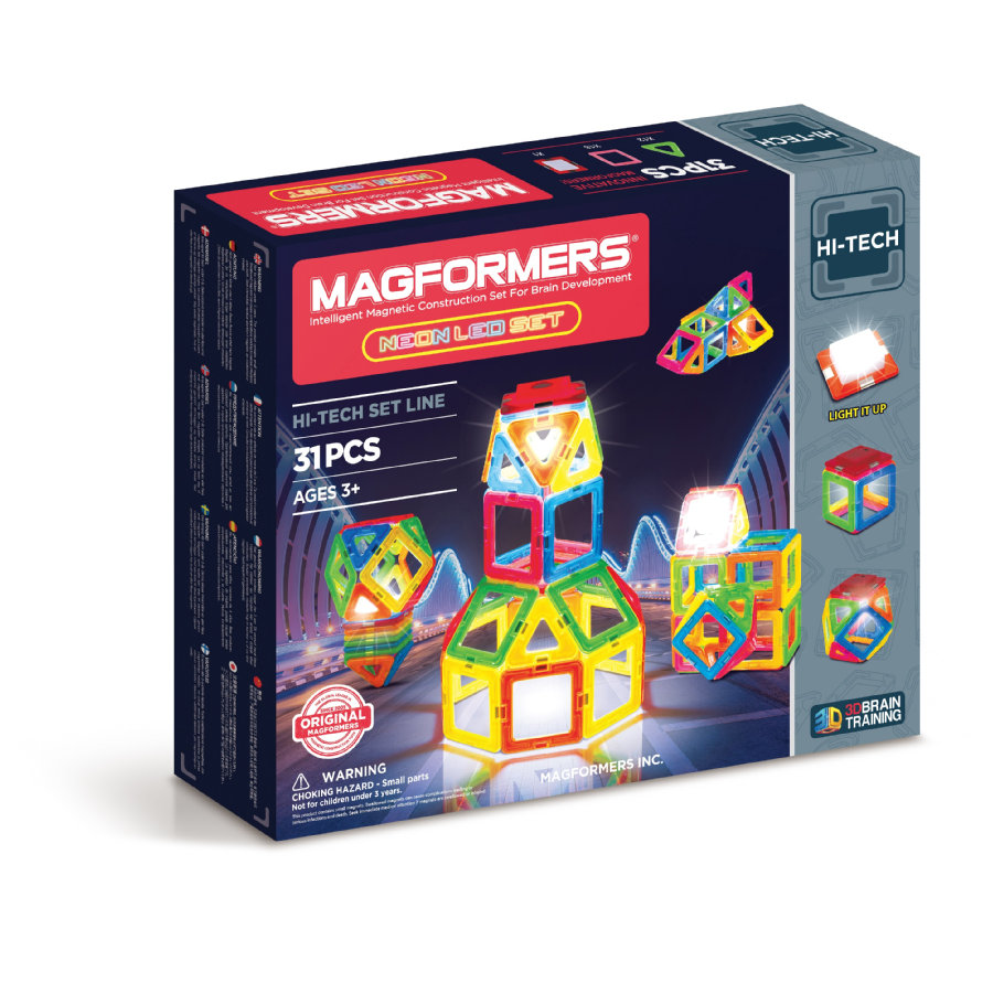 MAGFORMERS® Zestaw Neon LED