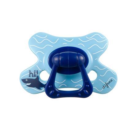 "DIFRAX Succhietto Natural ""3D"" in silicone  6+ blu- verde"