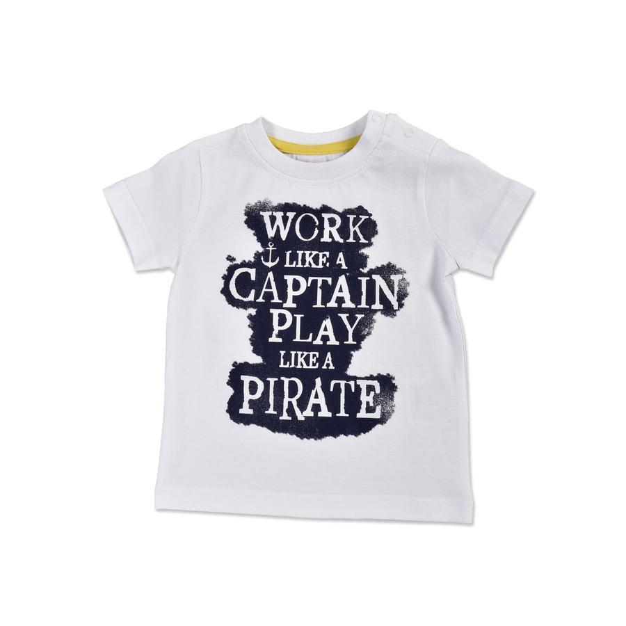 BLUE SEVEN T-Shirt Piraat wit