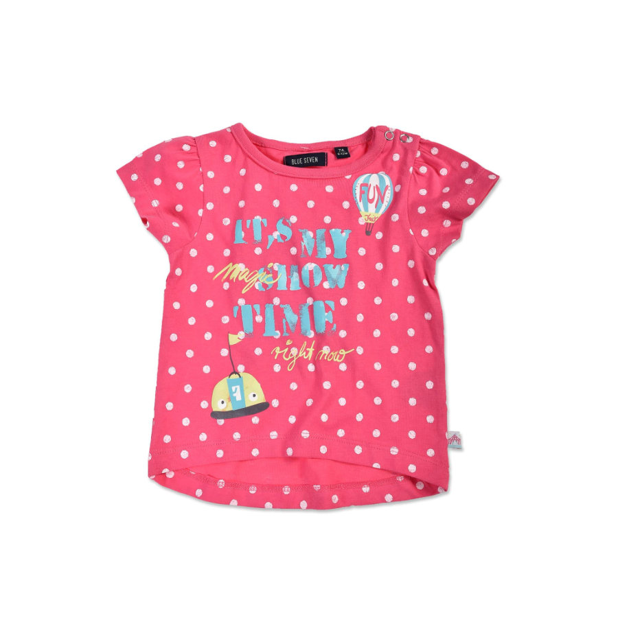 BLUE SEVEN Girls T-Shirt gepunktet pink