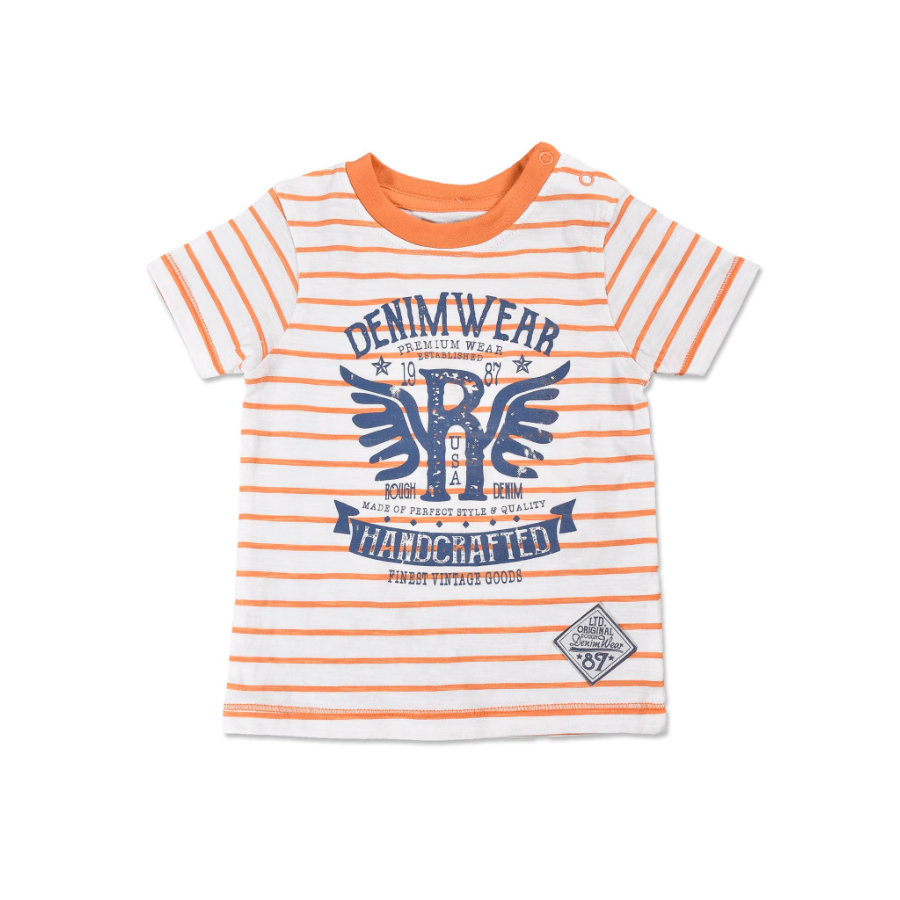 BLUE SEVEN Boys T-Shirt Vintage oranje gestreept
