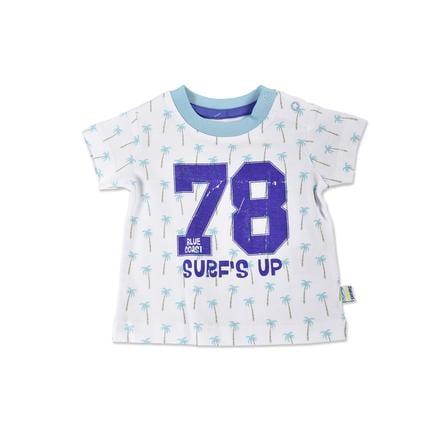 BLUE SEVEN  Chlapecké tričko Palm Cyan