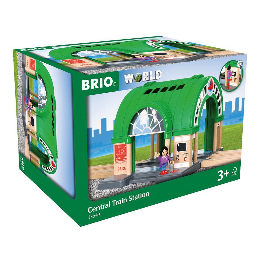BRIO® WORLD Duży dworzec główny z automatem biletowym