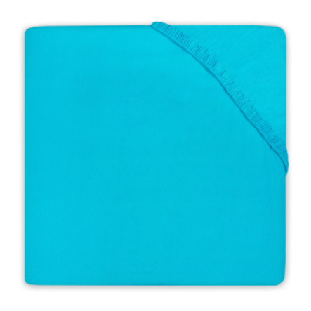 jollein Drap-housse Jersey turquoise 75 x 95 cm