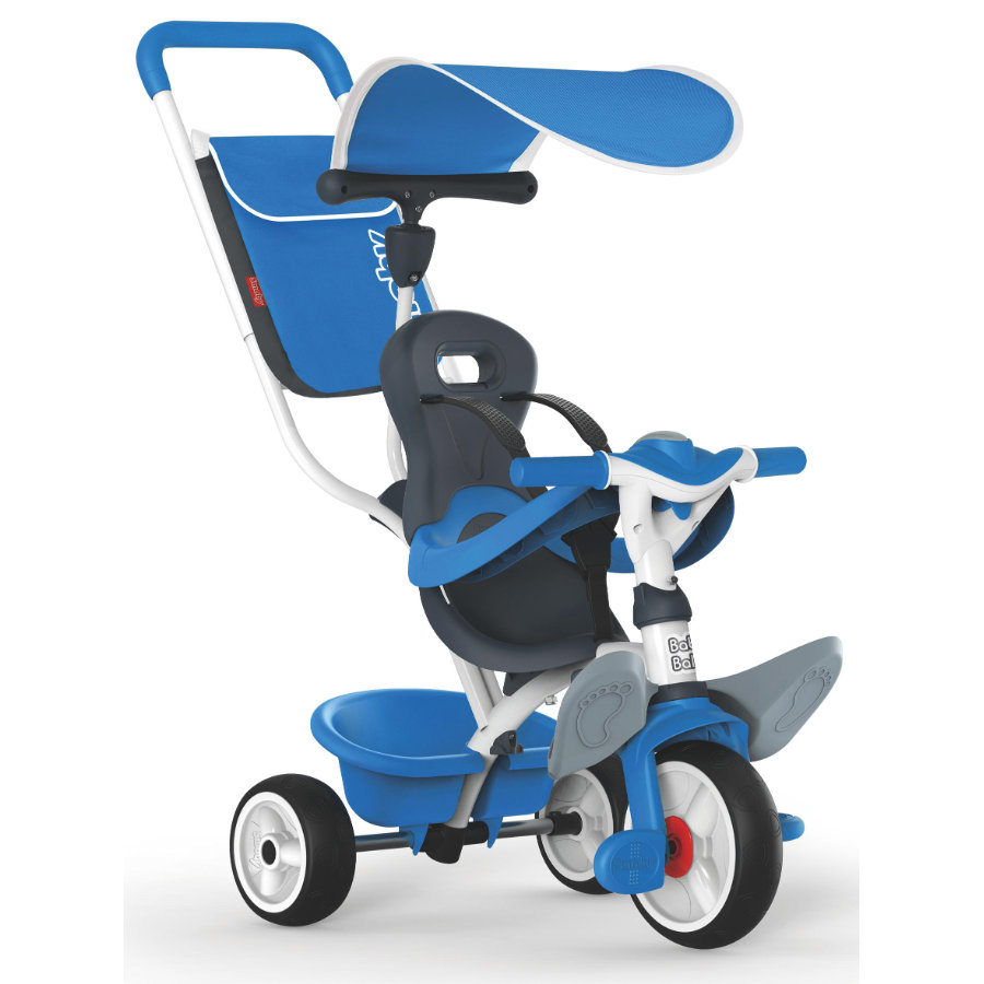 Smoby Tricycle évolutif enfant Baby Balade, bleu